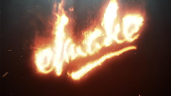 پروژه افترافکت نمایش لوگو آتش