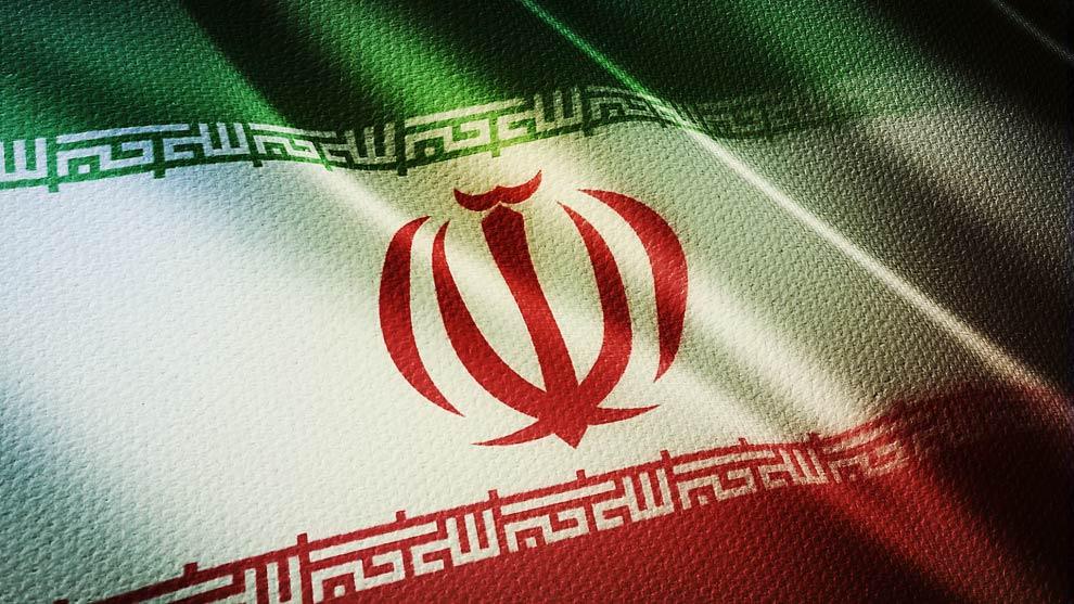 فوتیج کلوزاپ واقعگرایانه از پرچم کشور ایران