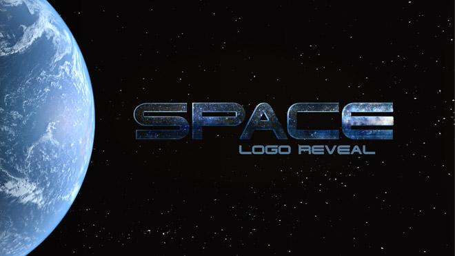 پروژه افترافکت نمایش لوگو در فضا