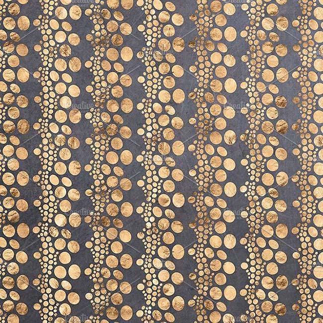 مجموعه 12 پترن جزایر طلایی با طرح آبرنگ و فویل