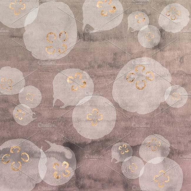 12 پترن آبهای کم عمق رزی رنگ با طرح آبرنگ