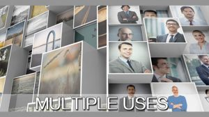 قالب افترافکت نمایش لوگو شرکتی با موزاییک سهبعدی تصاویر