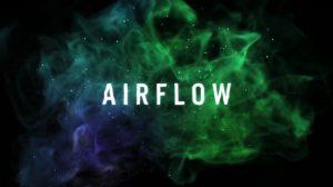 قالب افترافکت نمایش لوگو پارتیکلی Airflow