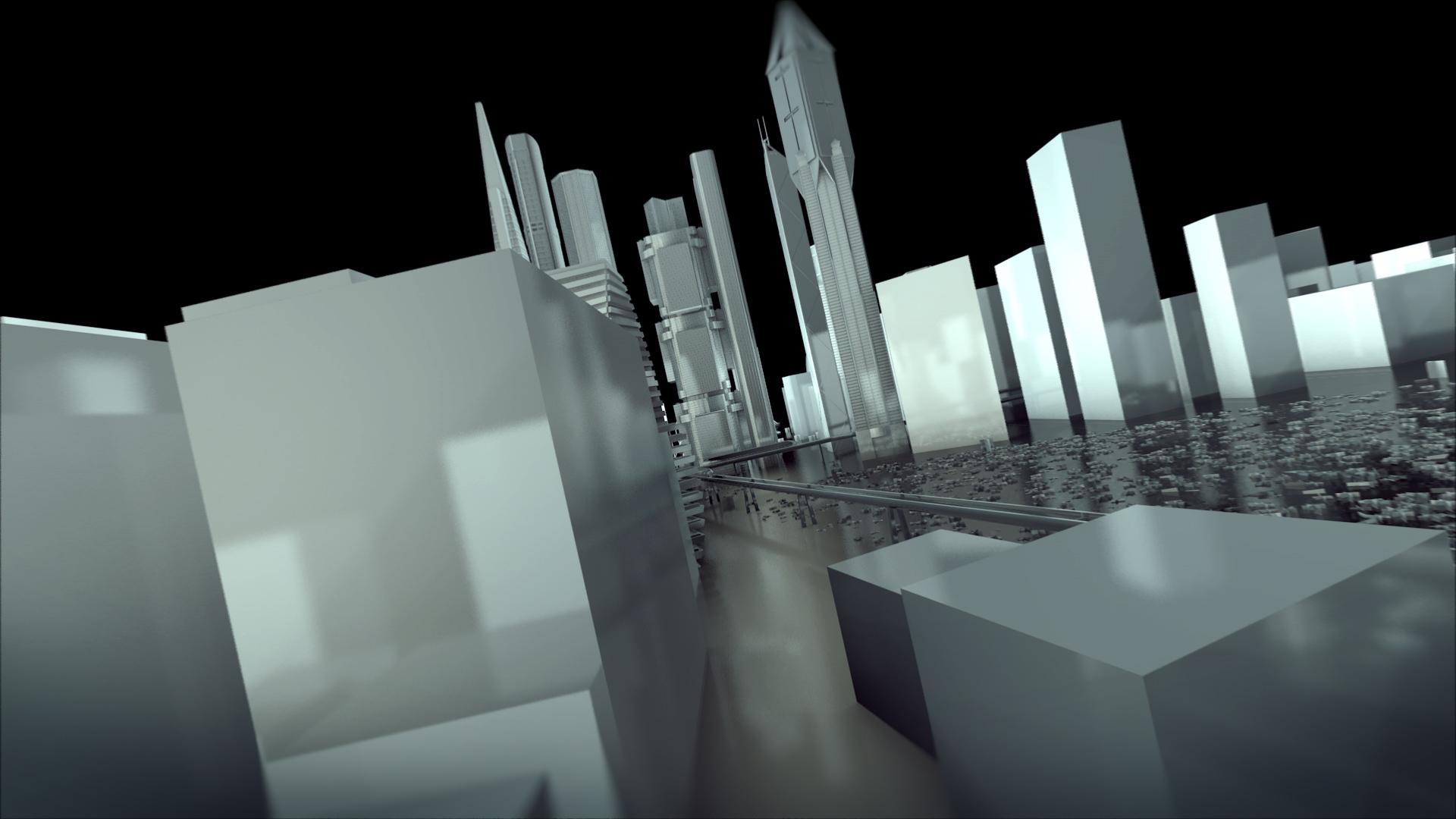 پروژه افترافکت نمایش لوگو در پس شهر مدرن