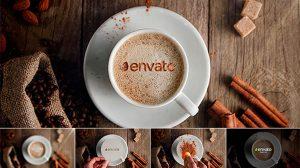 قالب افترافکت نمایش لوگو در فنجان قهوه