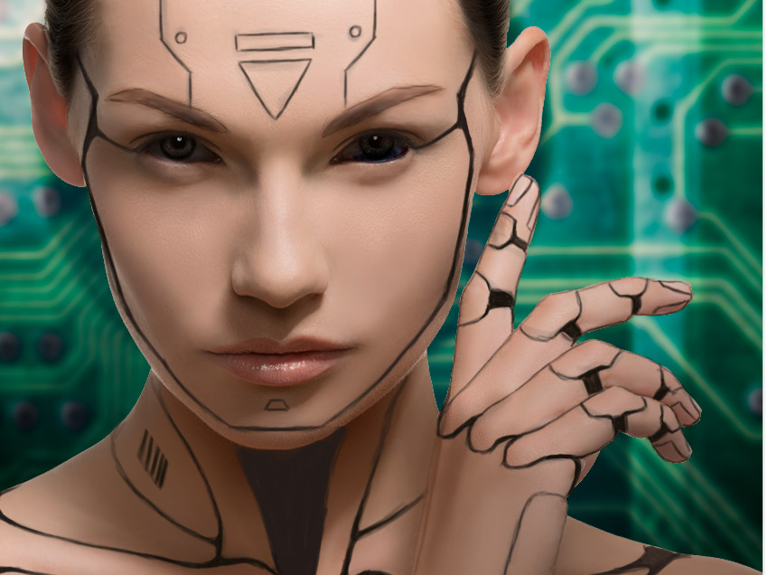 روش ساخت یک ترکیب تصویر از انسان سایبورگ در ادوبی فتوشاپ