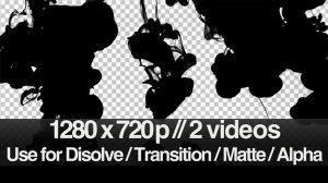 ویدیوی موشن گرافیک ترانزیشن حرکت جوهر در آب