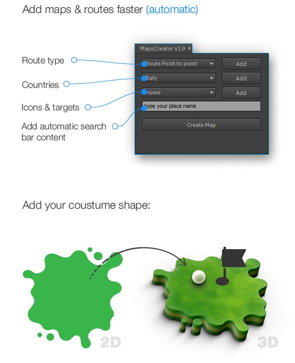اسکریپت افترافکت 3D Maps Creator