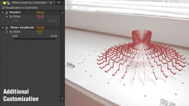 پروژه افترافکت ویژوالایزر سهبعدی موزیک