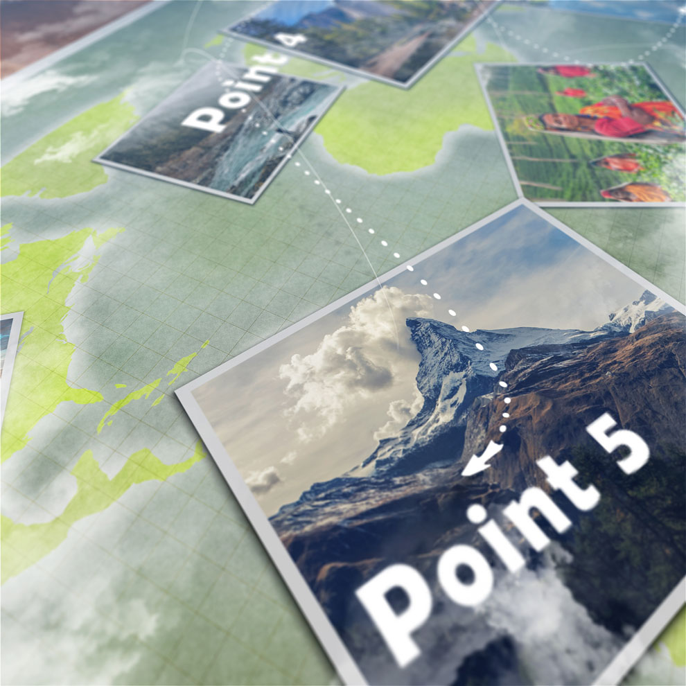 پروژه افترافکت انیمیشن مسیر حرکت روی نقشه Animated Map Path