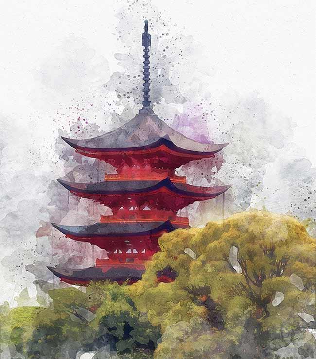 اکشن فتوشاپ آبرنگ آسیایی شرقی