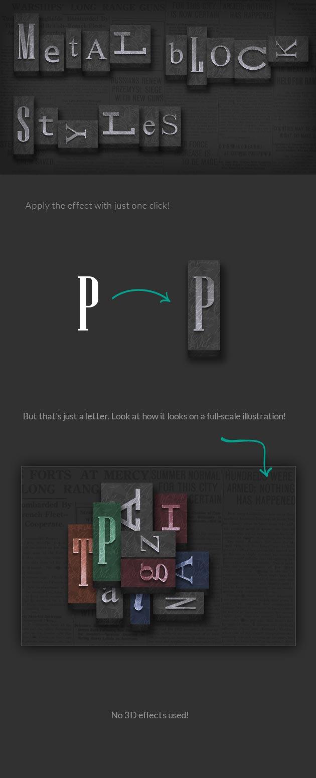 باندل سوپر پرمیوم استایل نوشته برای ایلوستریتور - ژنراتور و تولیدکننده بلوک های چاپ فلز
