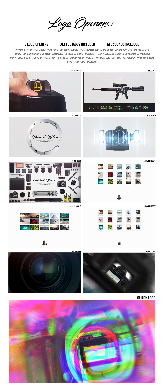 پروژه افترافکت پکیج جامع ساخت تیزر برای عکاسان