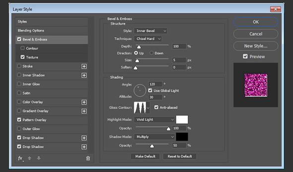 روش ساخت 10 استایل لایه فتوشاپ کاربردی برای افکت متن