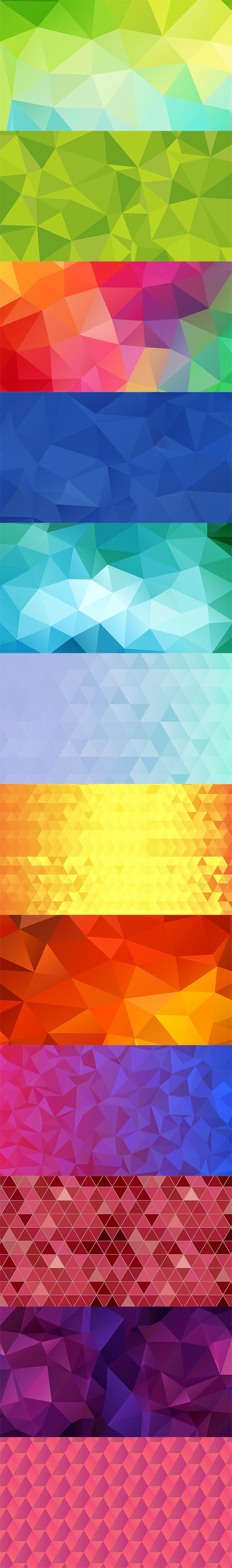 12 تصویر زمینه بسیار با کیفیت با طرح چند ضلعی