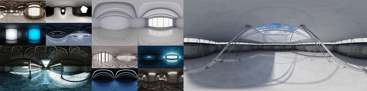 مجموعه HDRI محیط و مپ نور Backlight Environments