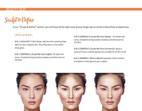 مجموعه اکشن فتوشاپ جعبه آرایش و زیبایی صورت