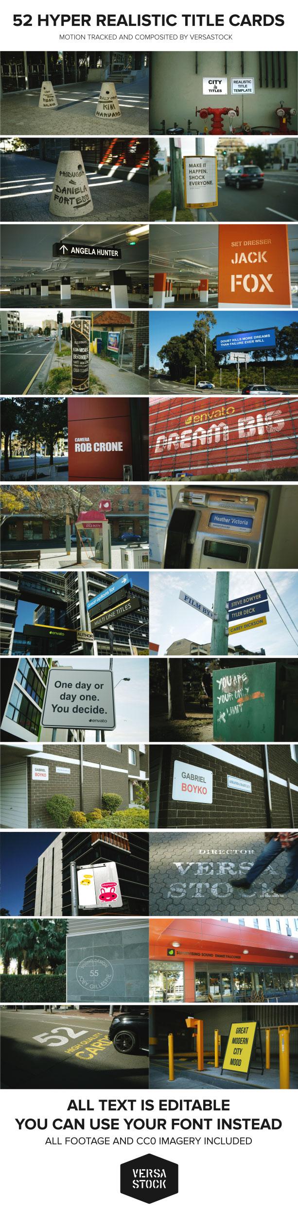 پروژه افترافکت نمایش واقعگرایانه عناوین در شهر