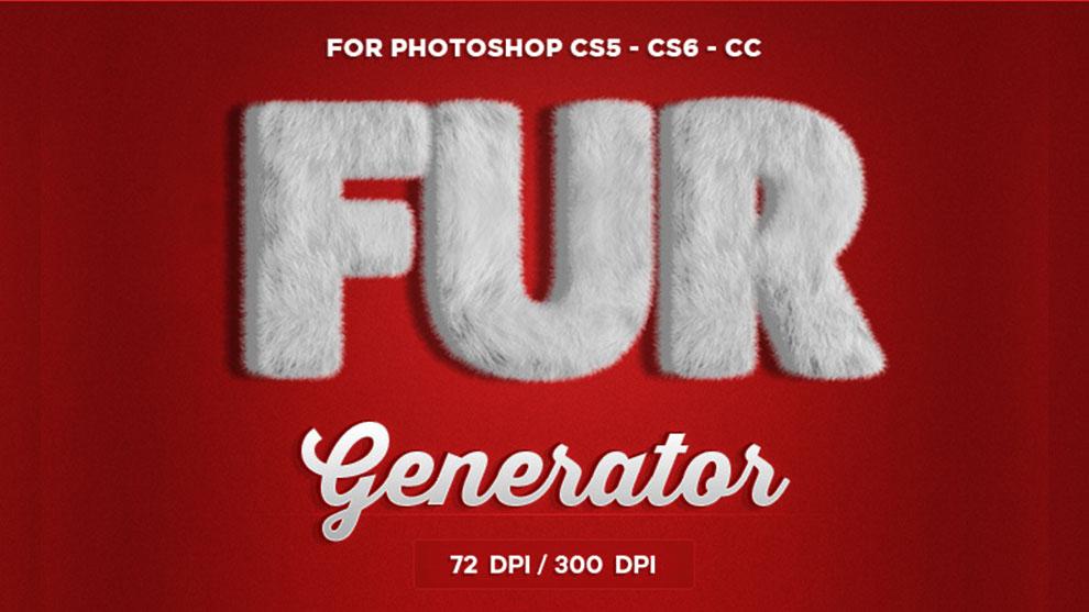 اکشن فتوشاپ ساخت افکت پوشش خزدار Fur Generator