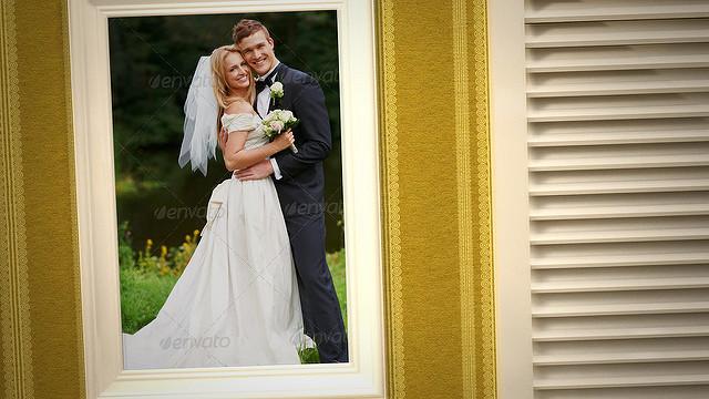 پروژه افترافکت گالری عکس عروسی The House Of Love