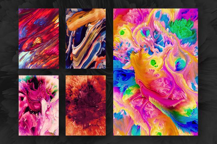 مجموعه تصاویر زمینه انتزاعی Energy