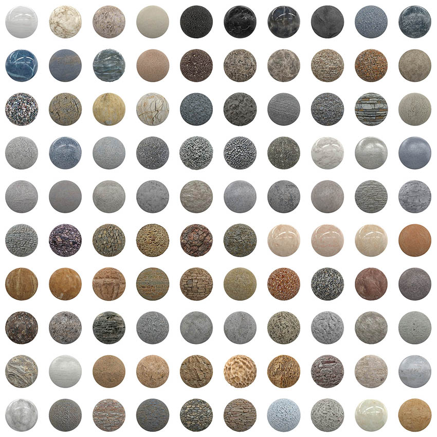 مجموعه تکسچر واقعگرایانه سنگ CGAxis PBR Textures Volume 1 Stones