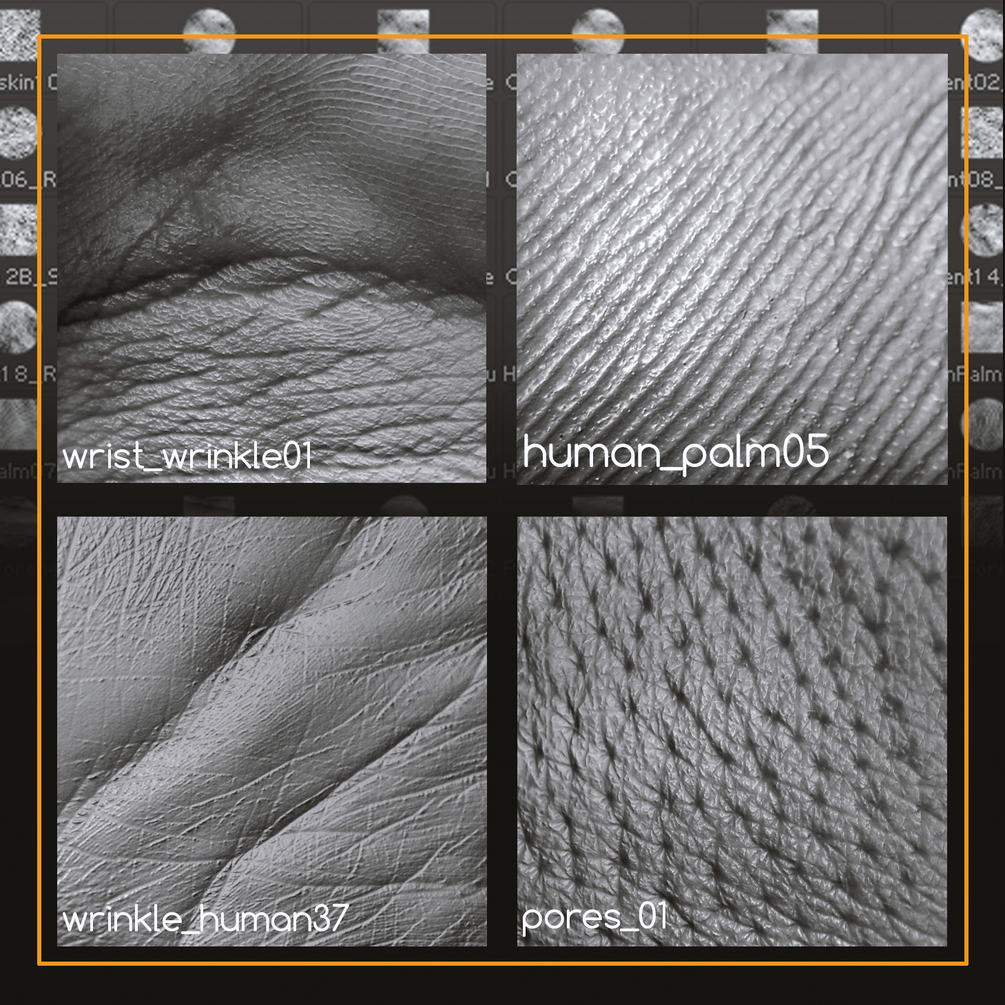 مجموعه تکسچر پوست بدن انسان Human Skin Textures