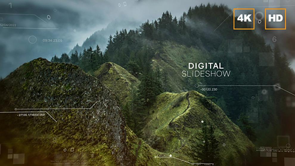 پروژه افترافکت Digital Slideshow 4K